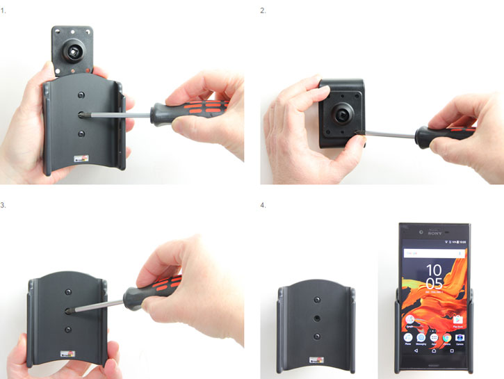 Brodit Passive Sony Xperia Z5 In-Car Holder with Tilt Swivel