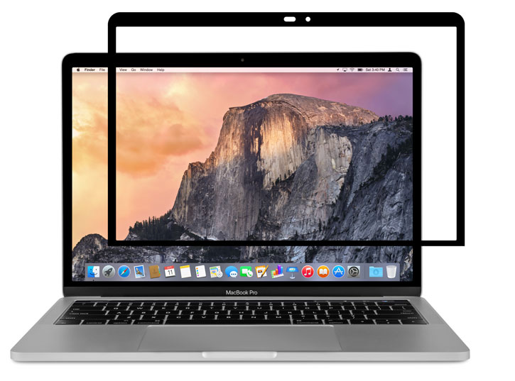 moshi ivisor macbook pro 13 with touch bar screen protector black