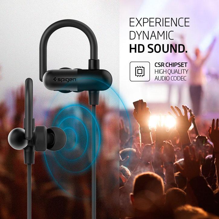 Spigen R52E Wireless Bluetooth Earphones - Black