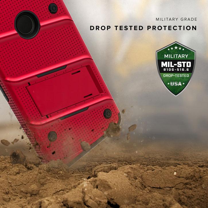 Zizo Bolt Series iPhone 7 Tough Case & Belt Clip - Red / Black