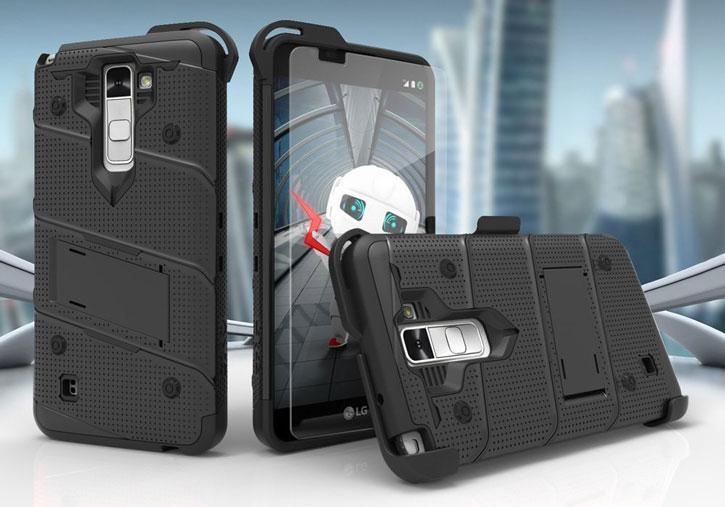 Zizo Bolt Series iPhone 7 Tough Case & Belt Clip - Black