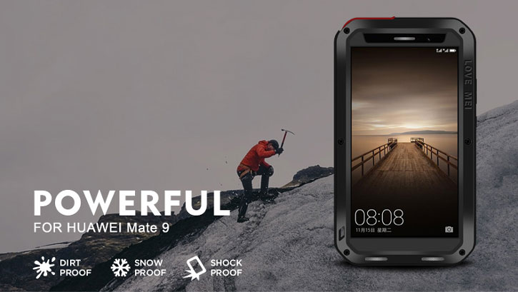 Love Mei Powerful Huawei Mate 9 Protective Skal - Svart