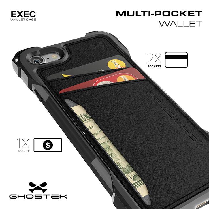 Ghostek Exec Series iPhone 7 Plus Wallet Case - Black