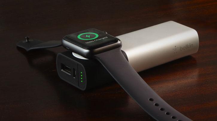 Belkin Valet Apple Watch & iPhone 6700mAh Power Bank - Silver