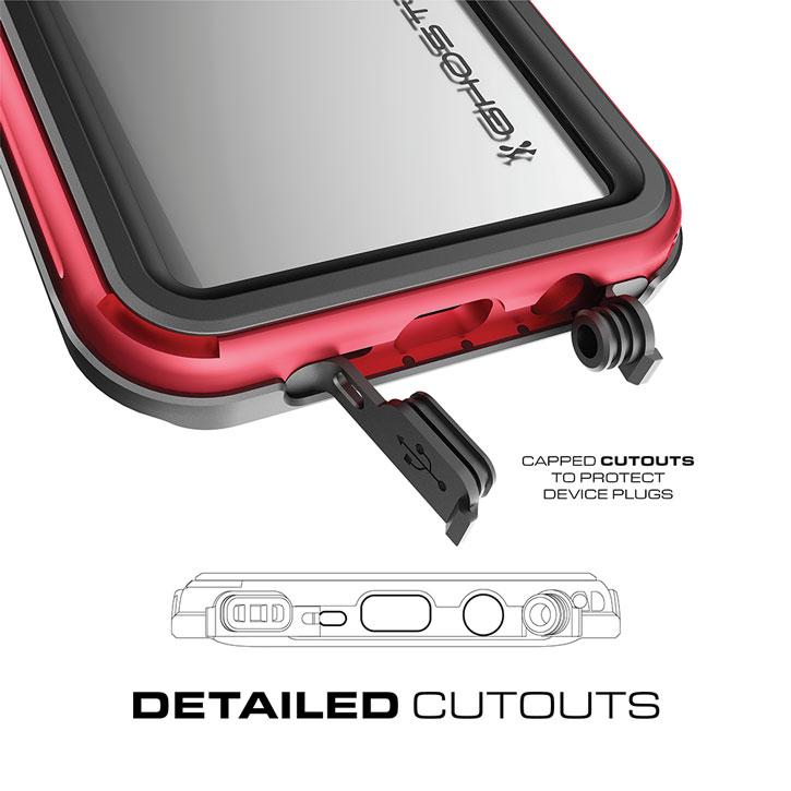 Ghostek Atomic 3.0 Samsung Galaxy S8 Waterproof Tough Case - Red