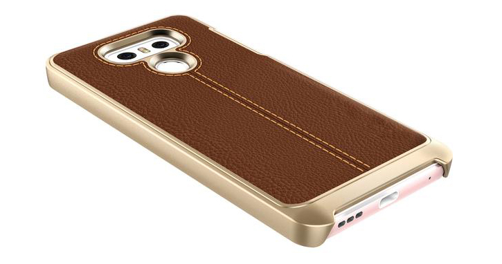 VRS Design Simpli Mod Leather-Style LG G6 Case - Brown