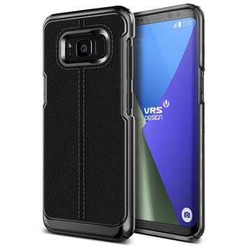 VRS Design Simpli Mod Leather-Style Samsung Galaxy S8 Case - Black