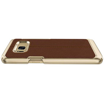 VRS Design Simpli Mod Leather-Style Samsung Galaxy S8 Case - Brown