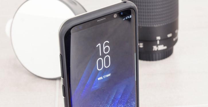 VRS Design High Pro Shield Samsung Galaxy S8 Case - Steel Silver