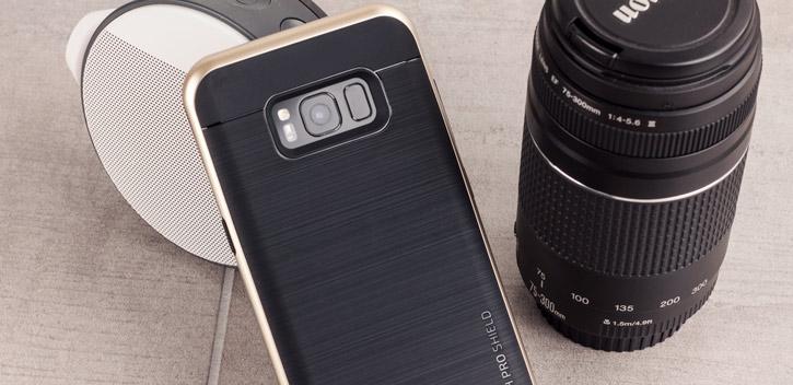 Coque Samsung Galaxy S8 VRS Design High Pro Shield – Or vue sur appareil photo