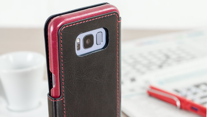 VRS Design Dandy Leather-Style Samsung Galaxy S8 Wallet Case - Black