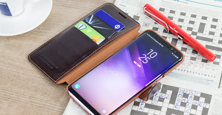 Housse Samsung Galaxy S8 VRS Design Dandy Simili Cuir - Marron