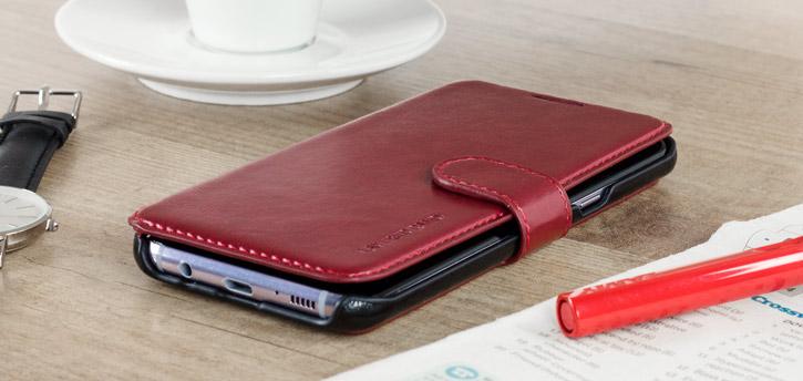 Housse Samsung Galaxy S8 VRS Design Dandy Simili Cuir - Rouge vue sur ports