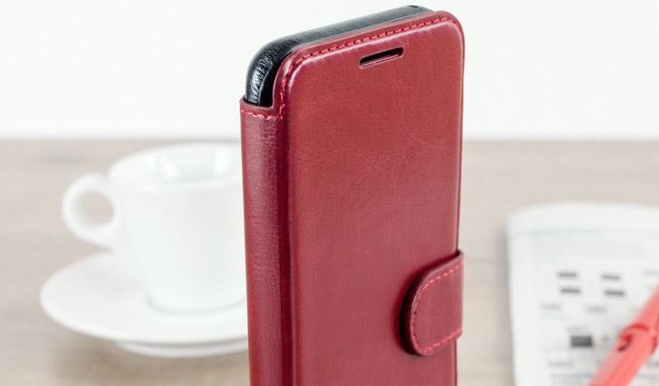 Housse Samsung Galaxy S8 VRS Design Dandy Simili Cuir - Rouge