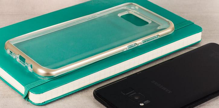 VRS Design Crystal Bumper Samsung Galaxy S8 Plus Case - Shine Gold