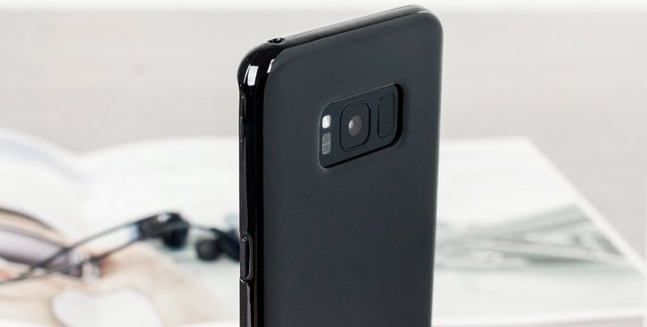 Olixar FlexiShield Samsung Galaxy S8 Plus Gel Case - Solid Black