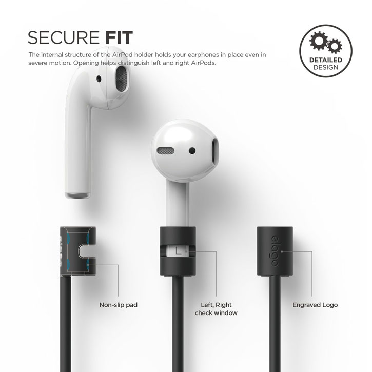 Elago iPhone 7 / 7 Plus AirPods Strap - Black