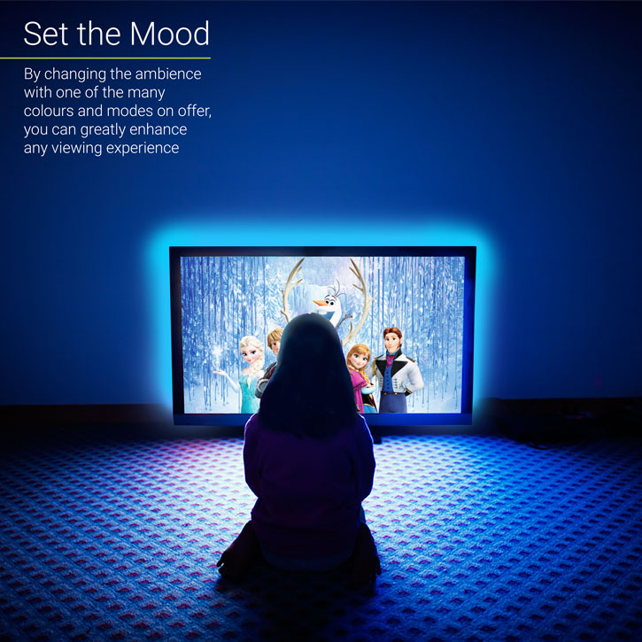 Auraglow Colour Changing 100cm LED Strip USB TV Backlight Lighting Kit