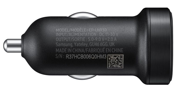 Official Samsung Mini USB-C Adaptive Fast Car Charger - Black