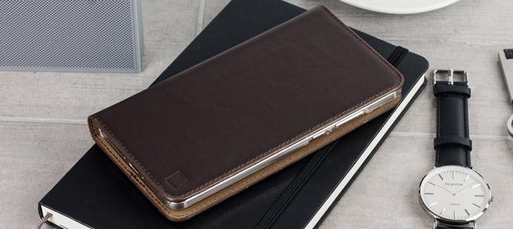 Olixar Genuine Leather OnePlus 3T / 3 Executive Wallet Case - Brown