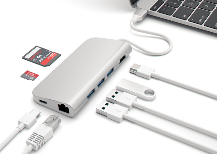 Satechi USB-C Aluminium Multi-Port 4K HDMI Adapter & Hub - Silver
