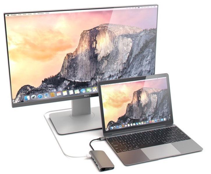 Satechi USB-C Aluminium Multi-Port 4K HDMI Adapter & Hub - Silver