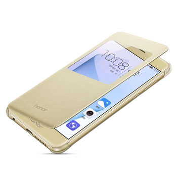 Official Huawei Honor 8 View Flip Case - Gold