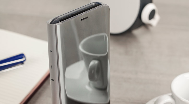 Official Samsung Galaxy S8 Clear View Stand Cover Case - Silver