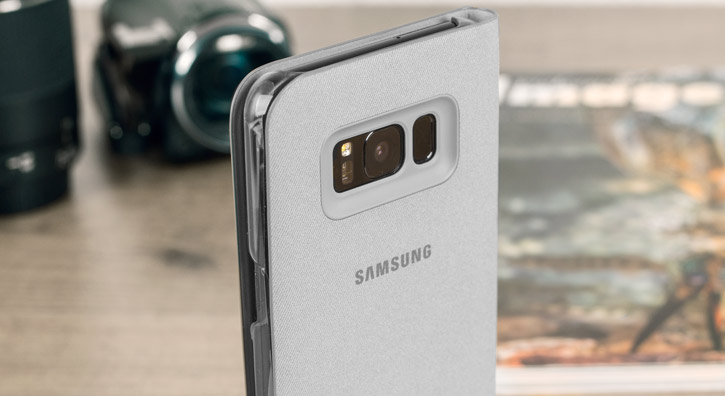Official Samsung Galaxy S8 LED Flip Wallet Cover - Silver