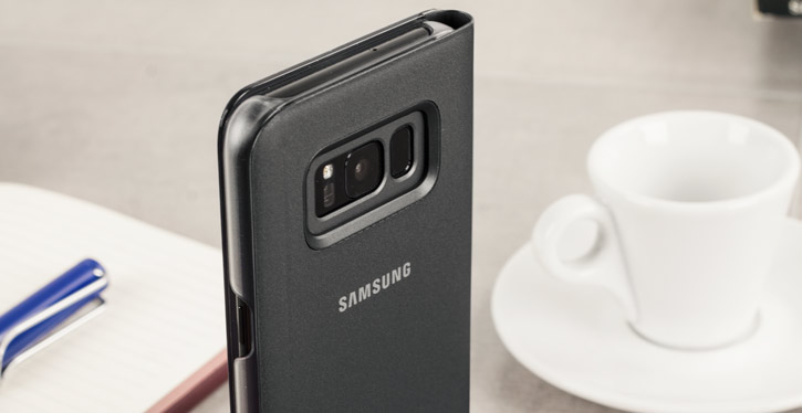 Official Samsung Galaxy S8 Plus Clear View Stand Cover Case - Black