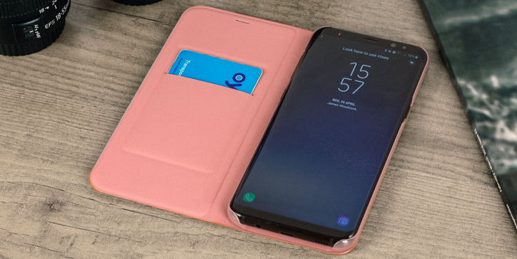Official Samsung Galaxy S8 LED Flip Wallet Cover - Pink