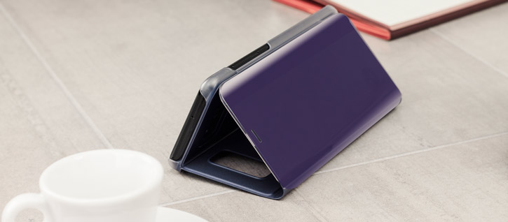 Official Samsung Galaxy S8 Plus Clear View Stand Cover Case - Violet