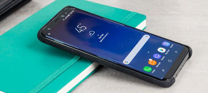 Official Samsung Galaxy S8 Alcantara Cover Case - Silver / Grey