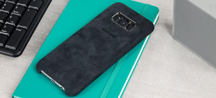 best website 3ea6d 4f8e0 Official Samsung Galaxy S8 Alcantara Cover Case - Silver / Grey
