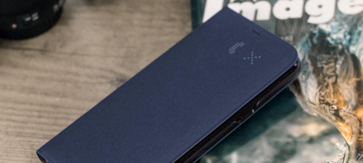 LED Flip Wallet Cover Officielle Samsung Galaxy S8 Plus - Bleue