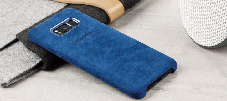Official Samsung Galaxy S8 Alcantara Cover Case - Blue