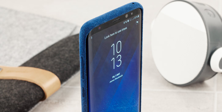 Official Samsung Galaxy S8 Alcantara Cover Case - Blue