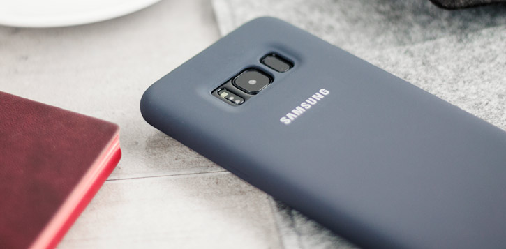 Official Samsung Galaxy S8 Silicone Cover Case - Silver / Grey