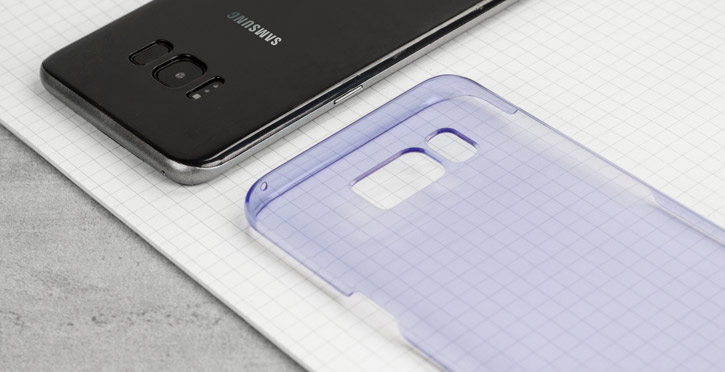 Official Samsung Galaxy S8 Plus Clear Cover Case - Violet