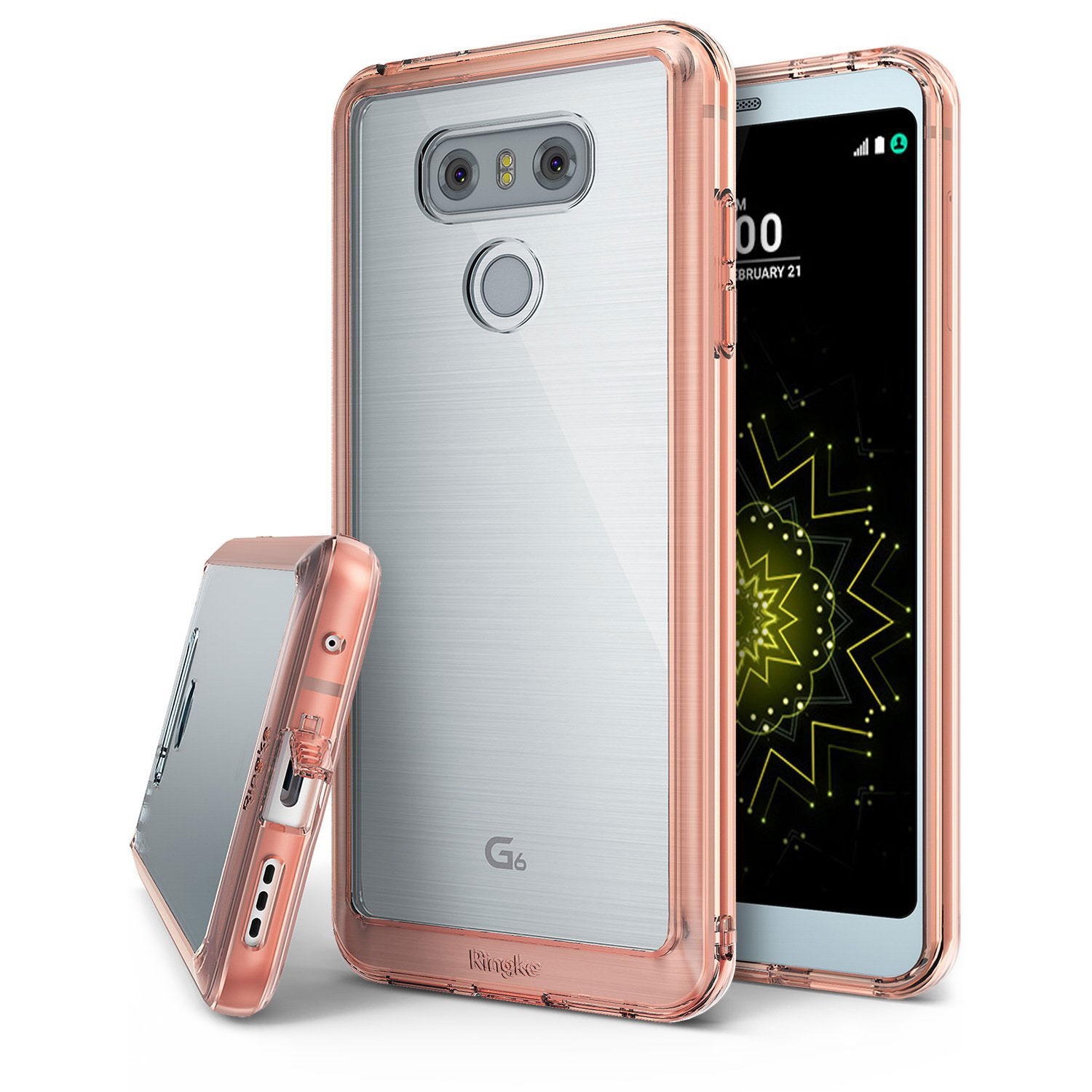 Rearth Ringke Fusion LG G6 Case - Rose Gold