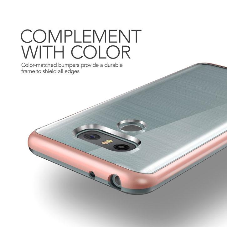 VRS Design Crystal Bumper LG G6 Case - Rose Gold