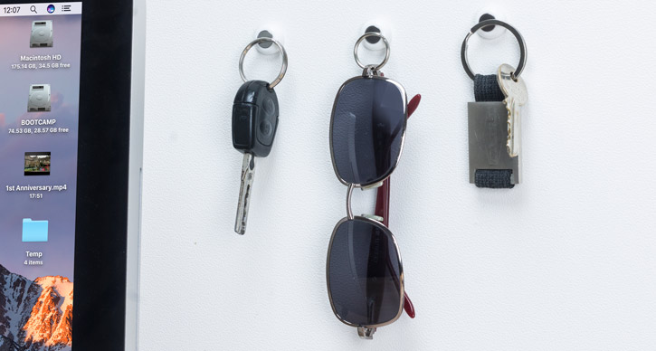 KeyCatch Sticky Magnetic Key Holder - 3 Pack