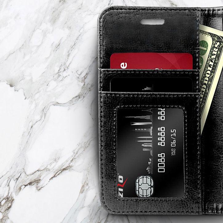 Zizo Leather Style Samsung Galaxy J3 2017 Wallet Case - Black