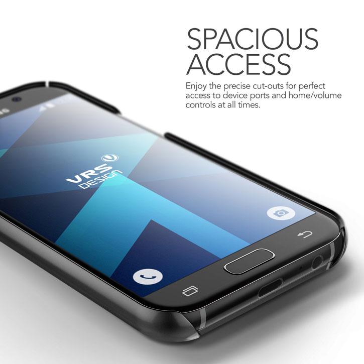 VRS Design Simpli Mod Leather-Style Samsung Galaxy A5 2017 Case- Black