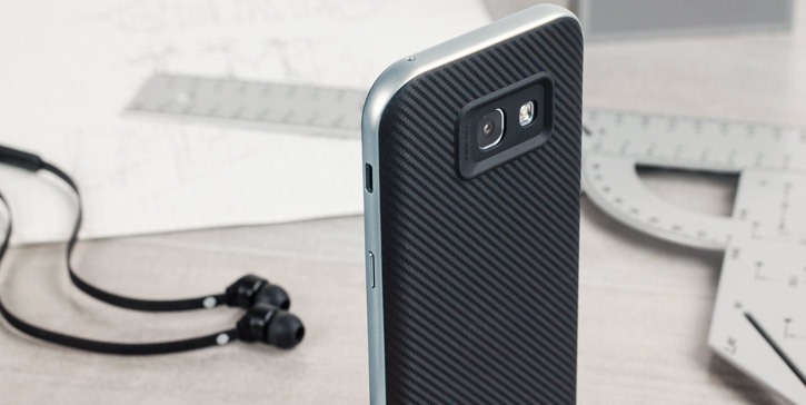 Olixar X-Duo Samsung Galaxy A5 2017 Case - Carbon Fibre Metallic Grey