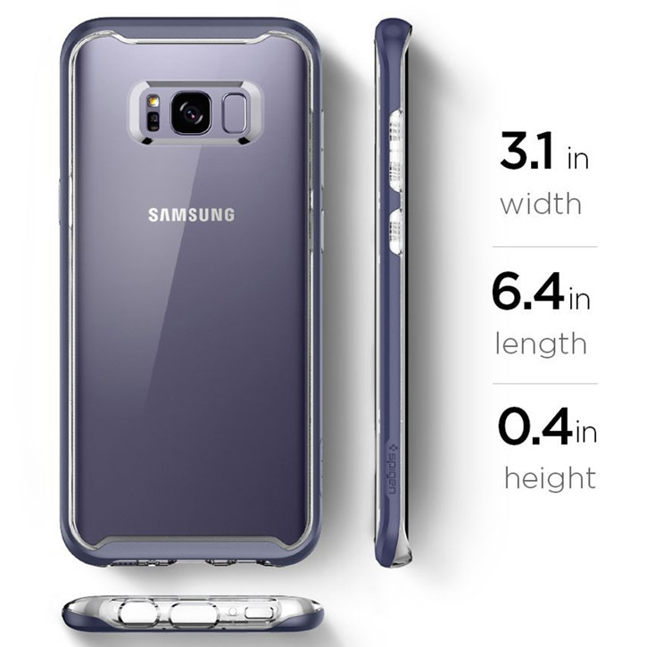 detailed look 71a61 9dcde Spigen Neo Hybrid Crystal Samsung Galaxy S8 Case - Orchid Grey
