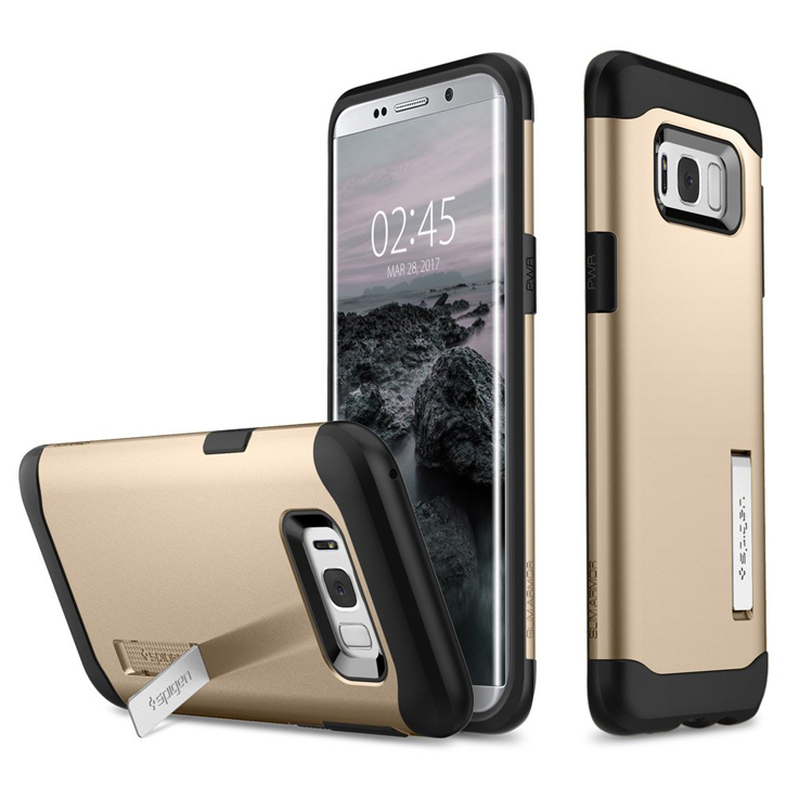 spigen slim armor samsung galaxy s8 plus tough case champagne gold did