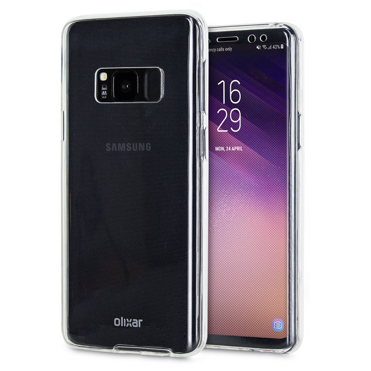 Olixar FlexiCover Full Protection Samsung Galaxy S8 Plus Case - Clear