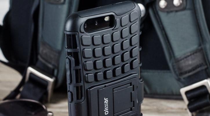 Coque HuaWei P10 ArmourDillo protectrice – Noire vue sur touches