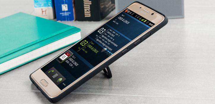 IMAK Marble Huawei Mate 9 Pro Stand Case - Black